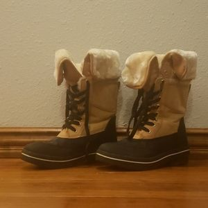 Madden Girl Crystal Snow Boots